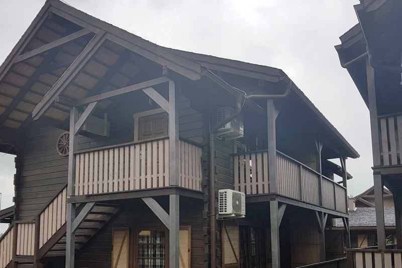 Zabezpieczenie ogniochronne domków Western Camp Resort Zatorze