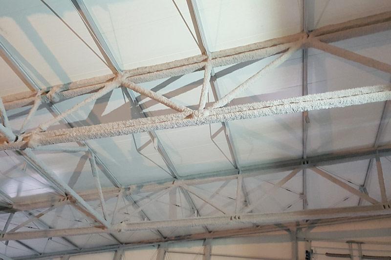 Zabezpieczenie przeciwpożarowe konstrukcji stalowej hali w Zwoleniu